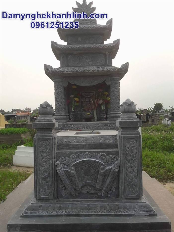 Mẫu mộ đẹp bằng đá có mái che bán tại các tỉnh phía Nam
