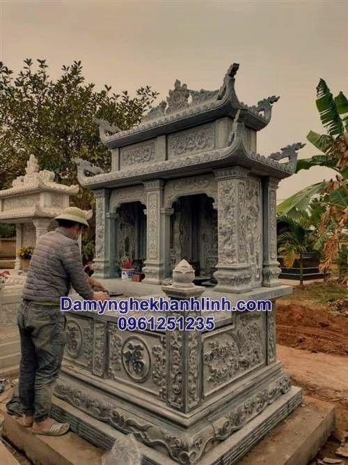 Kích thước mộ đá đôi và những điều nên biết trước khi xây