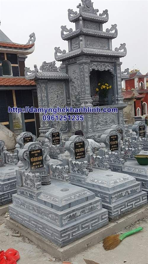 Thiết kế mộ tam cấp giá rẻ - Mẫu mộ đá tam cấp đẹp lắp trên toàn quốc