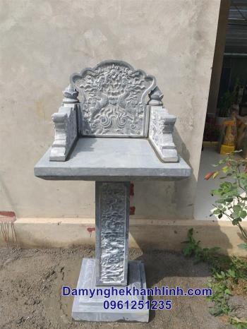 Cây hương đá-mẫu bàn thờ thiên bằng đá đẹp