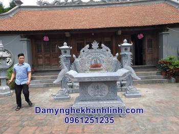 Bàn lễ đá làm từ đá xanh nguyên khối bán tại Ninh Bình