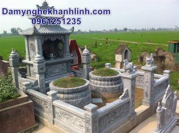 Mẫu mộ tròn bằng đá chạm sen cách điệu đẹp chất lượng tốt