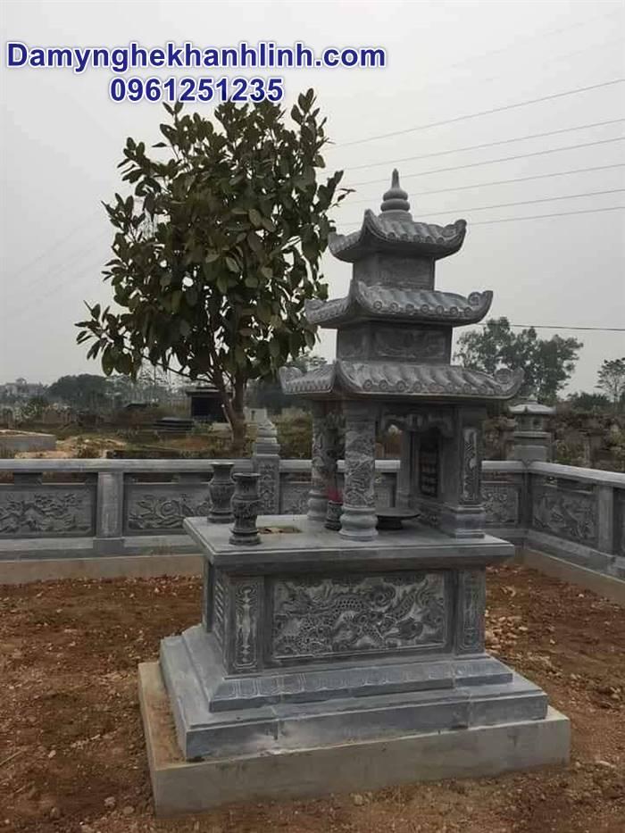 Mẫu mộ ba mái bằng đá thiết kế đơn giản giá tốt