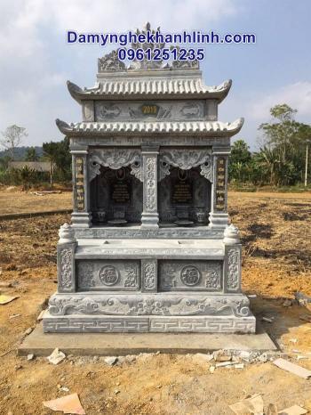 Mộ đá đôi - mẫu mộ đá  đôi đẹp bán tại  Ninh Bình