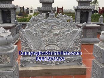 Cuốn thư đá trấn phong thủy trong khu lăng mộ đá gia tộc