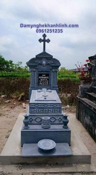Mộ đá công giáo -mẫu mộ công giáo thiết kế đơn giản giá rẻ