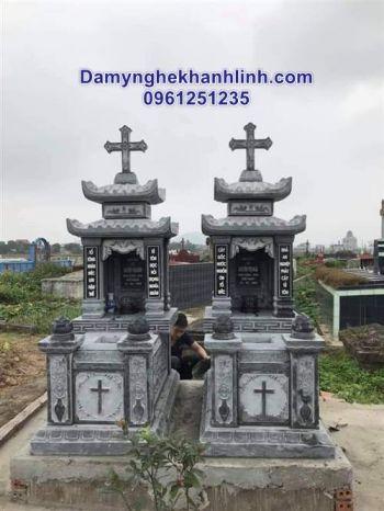 Mộ đá công giáo - các mẫu mộ công giáo bằng đá nguyên khối