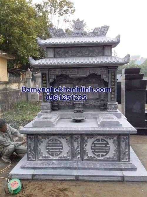 Mộ đá đôi - mẫu mộ đôi đẹp bằng đá được lựa chọn nhiều nhất
