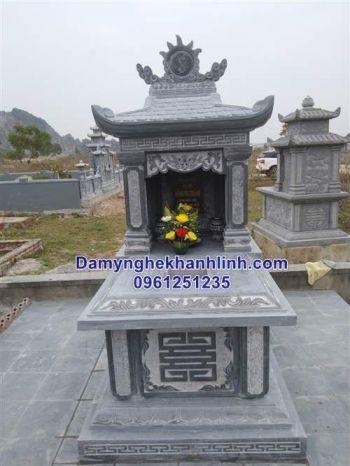 Mẫu mộ đá một mái thiết kế tinh tế giá rẻ bán tại Ninh Bình