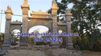 Cổng đá đẹp - Mẫu cổng tam quan đá nhà thờ họ đẹp