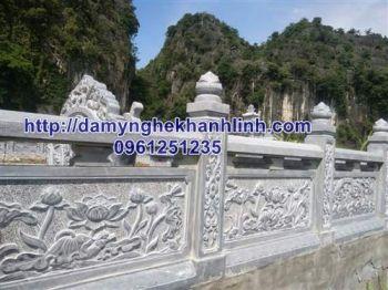 Lan can đá -  mẫu hàng rào đá lăng mộ đẹp năm 2021