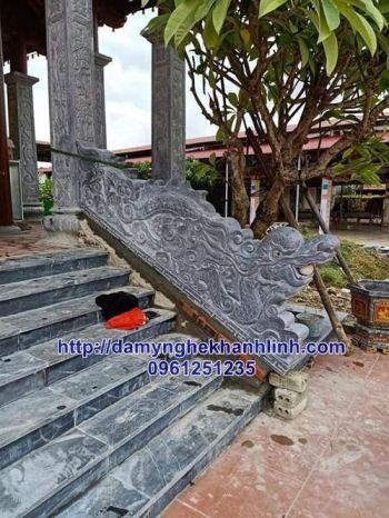 Rồng đá bậc thềm - mẫu rồng đá bậc thềm nhà thờ họ đẹp