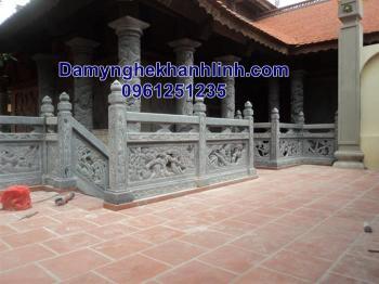 Lan can đá -mẫu hàng rào đá nhà thờ họ hoa văn tứ quý