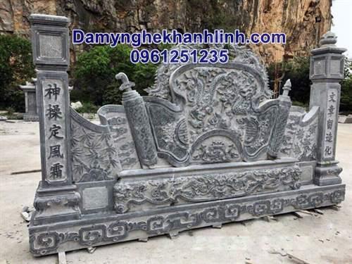 Cuốn thư bằng đá đình chùa đẹp