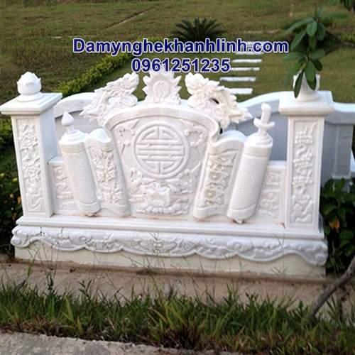 Cuốn thư đá trắng khu lăng mộ