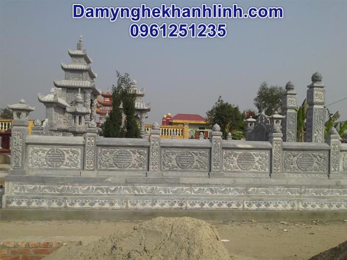Mẫu hàng rào đá lăng mộ hình chữ thọ