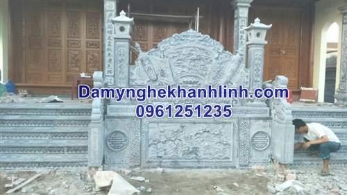 Mẫu cuốn thư đá long cuốn thủy cho đình chùa