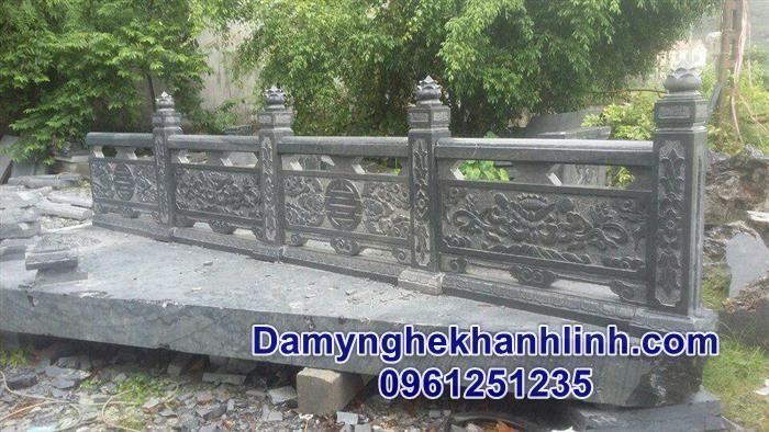 Mẫu hàng rào đá đẹp cho khu lăng mộ đá