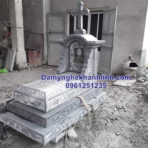 Mẫu mộ đá công giáo tam cấp