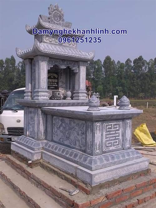Mẫu mộ đẹp bằng đá có mái che