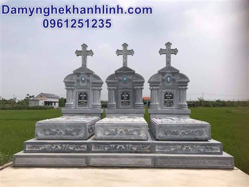 Mẫu mộ đẹp bằng đá mộ đá công giáo không mái