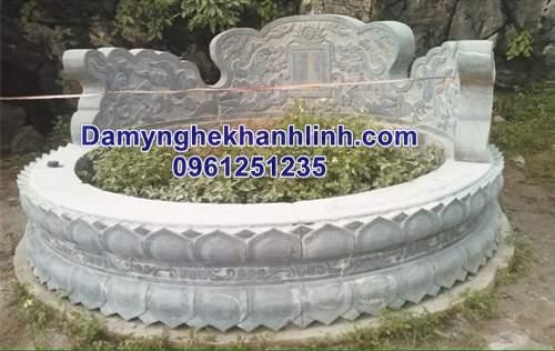 Mẫu mộ tròn bằng đá thiết kế cao cấp
