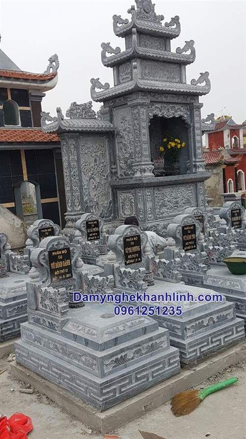 Lắp đặt khu lăng mộ đá gia tộc họ Vũ tại Hải Dương
