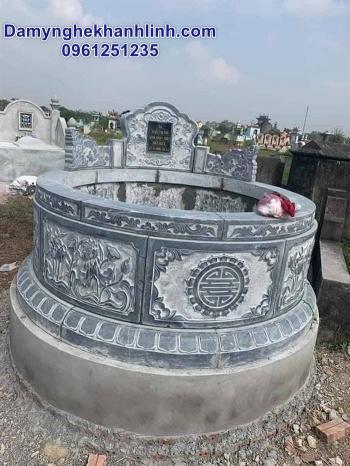 Mộ đá tròn - mẫu mộ tròn bằng đá đẹp nhất hiện nay