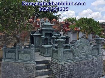 Mẫu khu lăng mộ đá xanh rêu thiết kế hiện đại giá tốt