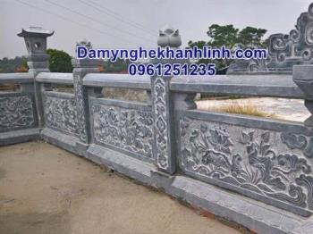 Lan can đá - mẫu hàng rào đá xanh thiết kế cao cấp