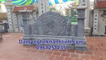 Mẫu cuốn thư đá nhà thờ đẹp làm từ đá xanh bán tại Bắc Giang