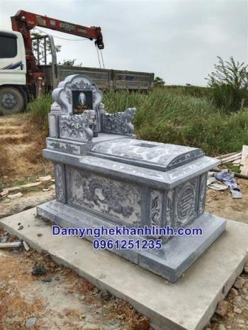 Mẫu mộ bành đá đẹp thiết kế đơn giản bán tại Hà Nội