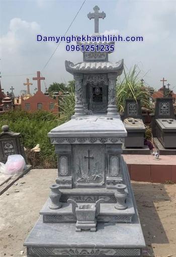 Mộ đá công giáo - mẫu mộ đẹp bằng đá dành cho người theo đạo