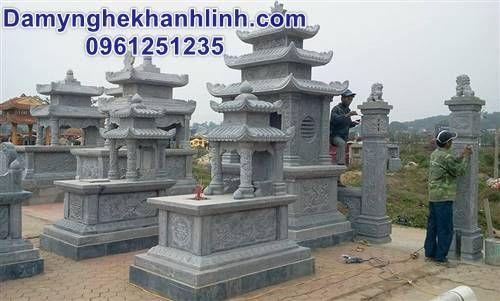 Mộ đá hai mái - mẫu mộ đá hai đao thiết kế cao cấp