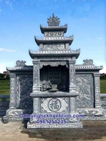 Lăng thờ đá - long đình cánh cho khu lăng mộ diện tích lớn