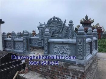 Mẫu khu lăng mộ đá gia đình đẹp thiết kế tinh tế - KL008