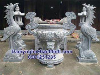 Mẫu lư hương đá đình chùa đẹp - Đá mỹ nghệ Khánh Linh