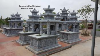 Mộ đá đẹp ba mái giá rẻ bán tại Ninh Bình