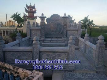 Mẫu khu lăng mộ đá gia tộc đẹp thiết kế cao cấp.